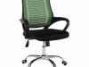 Fotoliu de birou, verde/negru/crom, IMELA TYP 2