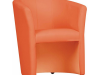 Fotoliu de club, piele ecologică portocalie, CUBA