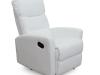 Fotoliu pentru relaxare, piele ecologică alb, SILAS