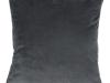 Pernă, material textil de catifea gri închis, 45x45, ALITA TIPUL 8
