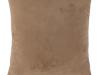 Pernă, material textil de catifea maro deschis, 45x45, ALITA TIPUL 4