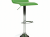 Scaun bar, piele ecologică verde/crom, LARIA NEW