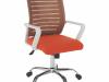 Scaun birou, alb/portocaliu, CAGE