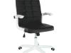 Scaun de birou, alb/negru, ZARGO