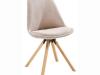 Scaun, material textil bej/lemn fag, SABRA