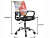 Scaun rotativ de birou, negru / model, STREET