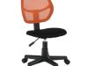 Scaun rotativ, portocaliu / negru, MESH