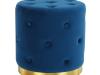 Taburet, catifea Velvet albastru regal/vopsea aurie, LEONID