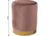 Taburet, catifea Velvet roz/crom auriu, ALAZ