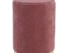 Taburet, catifea Velvet roz/vopsea aurie, BARICA