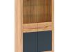 Vitrina C, stejar craft auriu / grafit gri, FIDEL