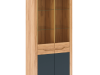 Vitrină H, stejar craft auriu / gri grafit, FIDEL