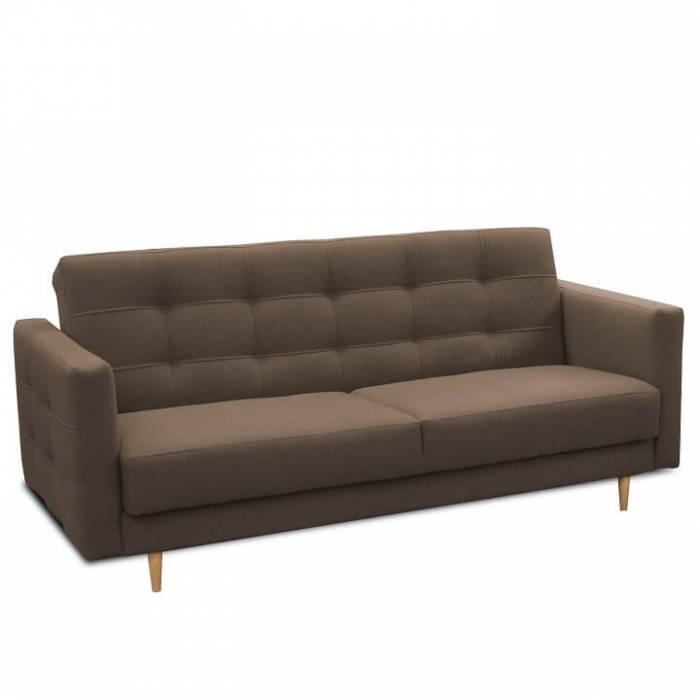 Canapea, 3 locuri tapiţată, material ciocolatiu, AMEDIA