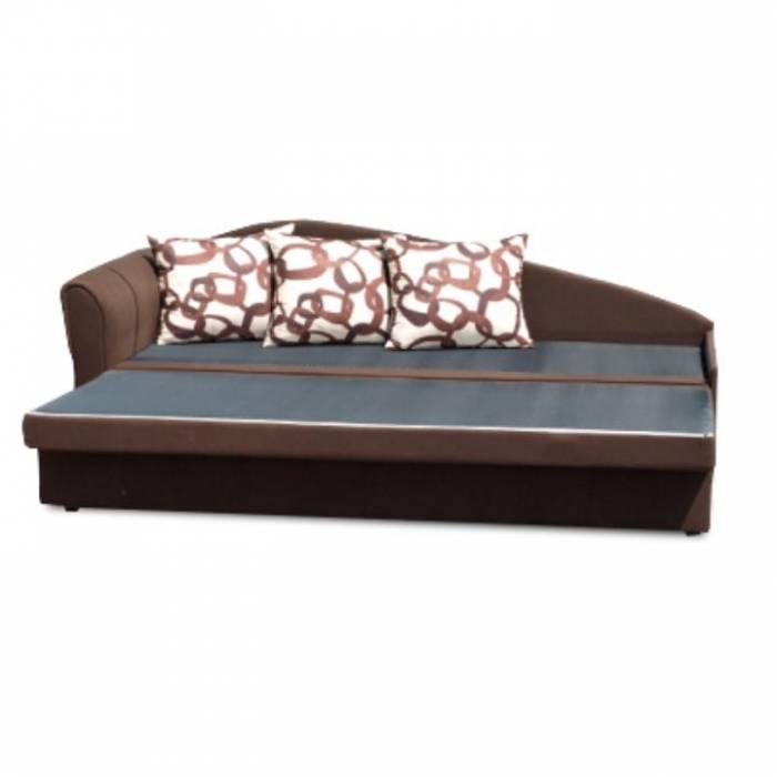 Canapea extensibilă, maro, model stânga, LAOS