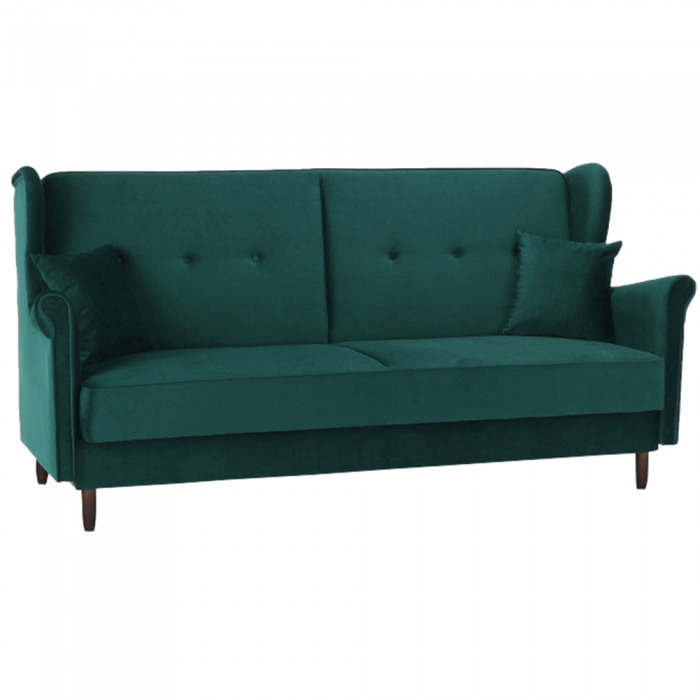 Colţar extensibil, material textil verde, COLUMBUS