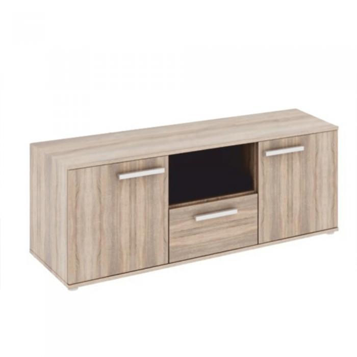 Comodă TV, cu 2 uşi, cu 1 sertar, DTD laminat, stejar sonoma, DUNAJ TIPUL10