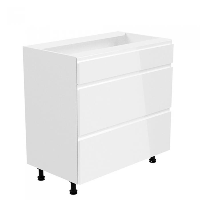 Dulap inferior, alb/alb extra luciu ridicat, AURORA D80S4