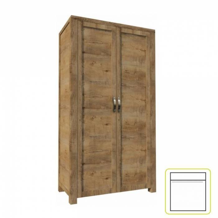Dulap şifonier cu două uşi, stejar lefkas, NEVADA