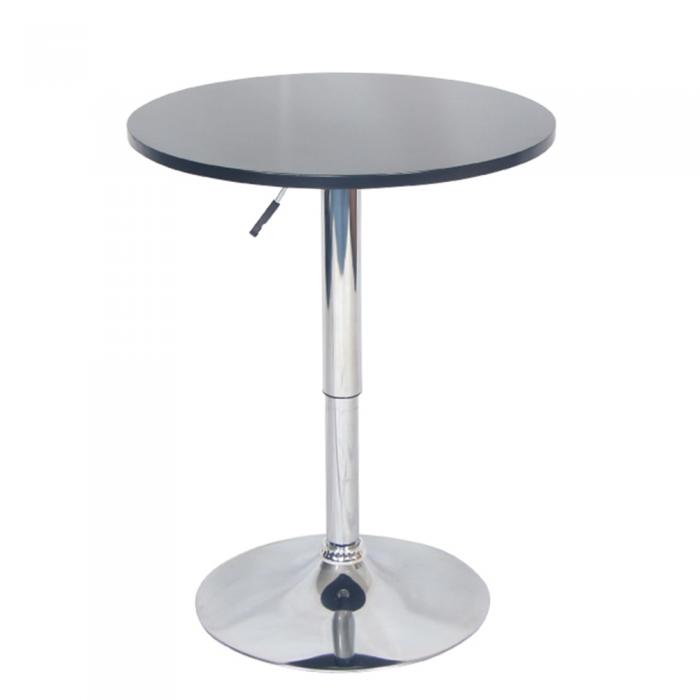 Masă de bar cu înălţime reglabilă, alb, BRANY NEW