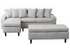 Canapea cu taburet, gri deschis, model stânga, KELLY