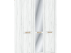 Dulap cu spaţiu pentru umeraşe H, stejar craft auriu / stejar craft alb, SUDBURY