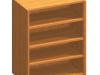 Dulăpior cu rafturi, cireş, TEMPO ASISTENT NEW 013