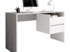 Birou, beton/alb mat, TULIO