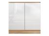 Mască chiuvetă cu 2 uşi, alb super luciu HG, LINE ALB