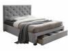 Pat modern cu spaţiu pentru depozitare, textil gri, 180x200, SANTOLA