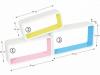 Set 3 rafturi, albe, colorate, AMOS FY 11042