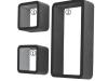 Set 3 rafturi, negru, TRIX FY 7493