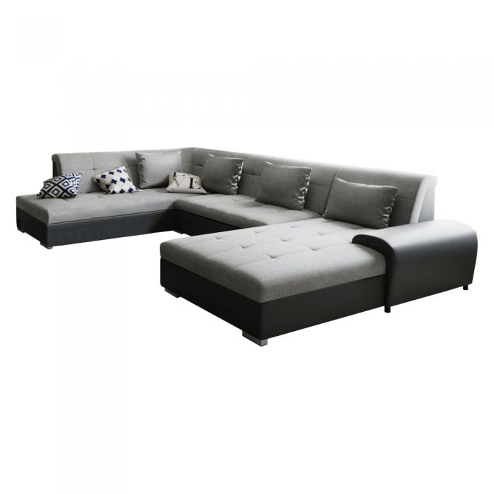 Canapea, gri/negru, model stânga, LIBERTO U