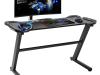 Birou PC/birou gaming, negru, JADIS