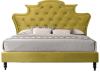 Pat de lux, catifea Velvet auriu, 180x200, REINA