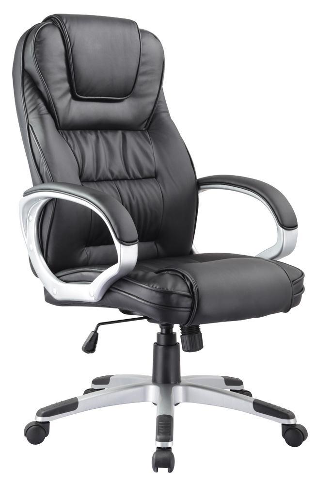 Scaun de birou Q-031 64x120x48 cm, ecopiele, negru poza