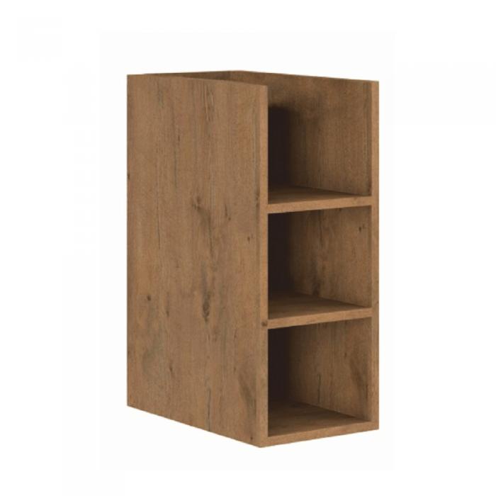 Cabinet inferior cu rafturi, stejar lancelot, VEGA 30 D OTW BB