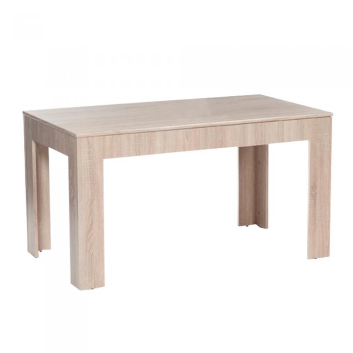 Masă de bucătărie, extensibilă, stejar sonoma, 140/180x80 cm, ADMIRAL