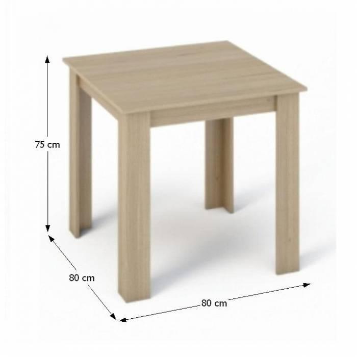 Masă dining, stejar sonoma, 80x80, KRAZ