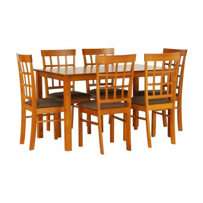 Set masă dining și 6 scaune Grid