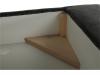 Coltar cu spaţiu pentru depozitare, gri, textil, stânga, BUTON R