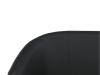 Fotoliu de club dublu, piele ecologică neagră, CUBA