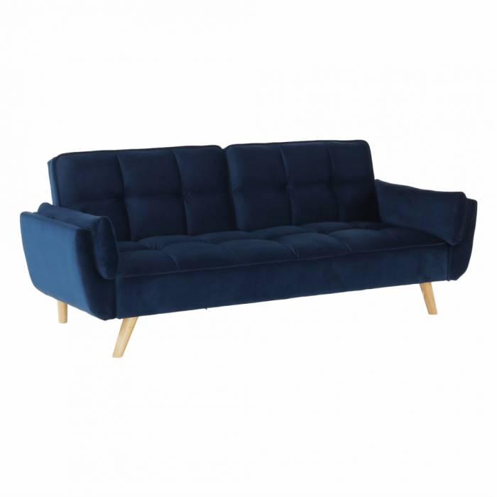 Canapea extensibilă Filema, 210x82x92 cm, textil, albastru