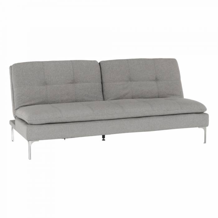Canapea extensibilă Herma, 190x94x85 cm, textil, gri deschis
