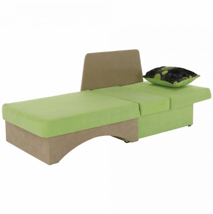 Fotoliu extensibil dreapta Kubos, 104x78x70 cm, textil, verde/bej