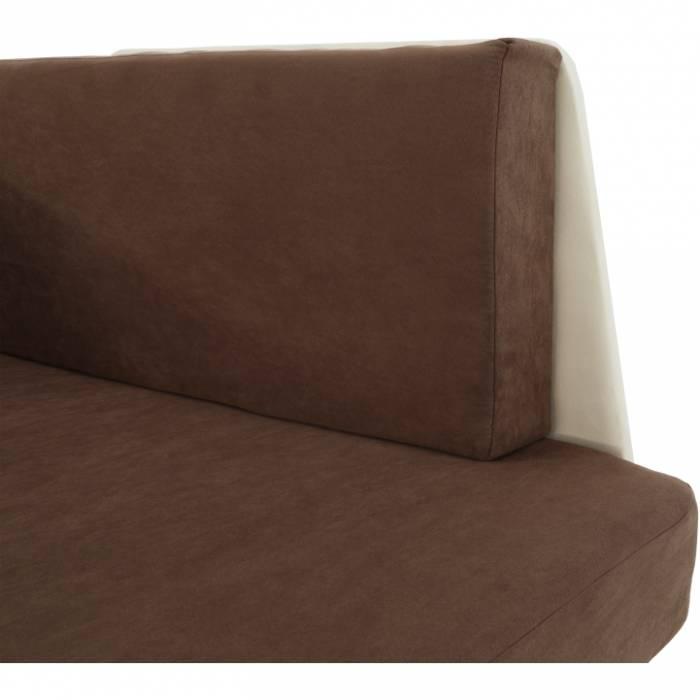 Fotoliu extensibil stânga Kubos, 104x78x70 cm, textill, maro/bej