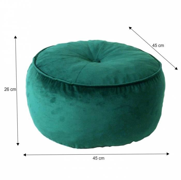 Puf Kerem, 45x26 cm, textil, verde