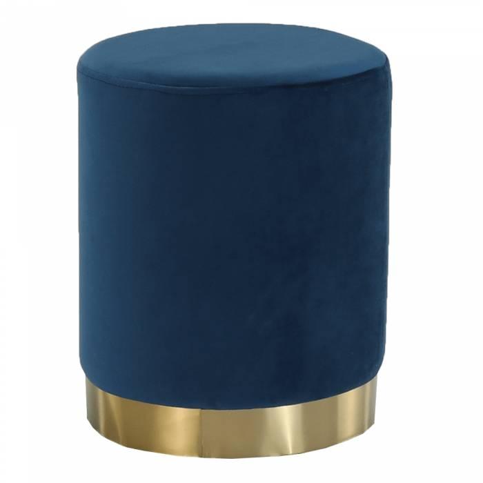 Taburet Alaz, 31x38 cm, catifea, albastru
