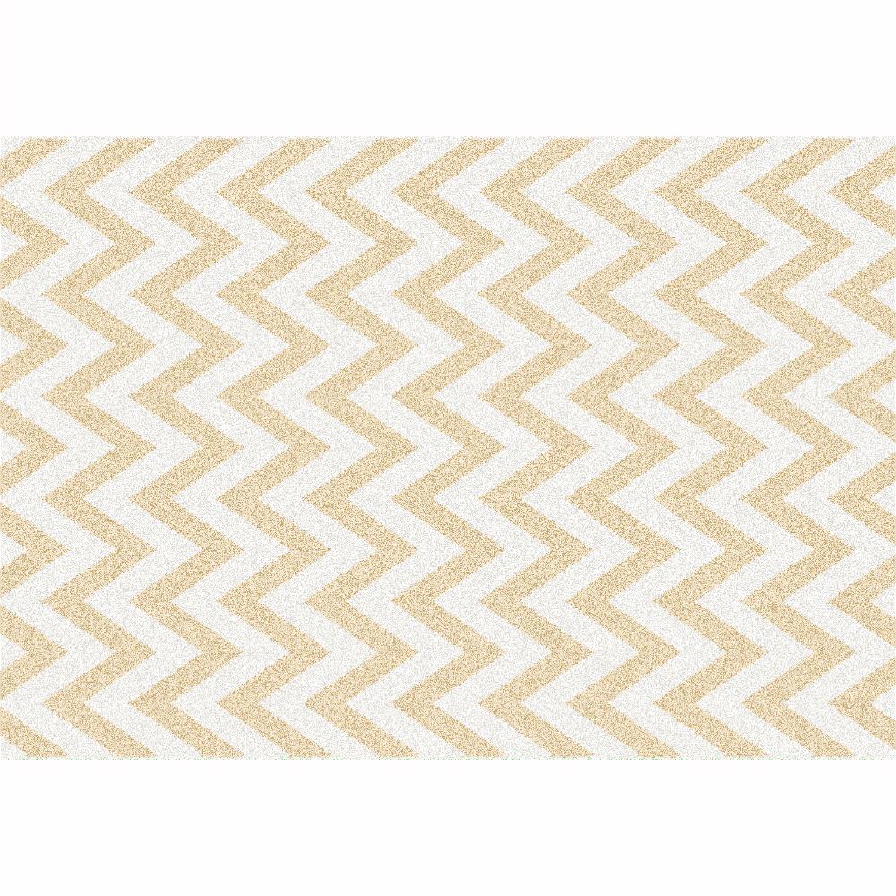 Covor Adisa 2, 133x190 cm, poliester, bej/alb poza