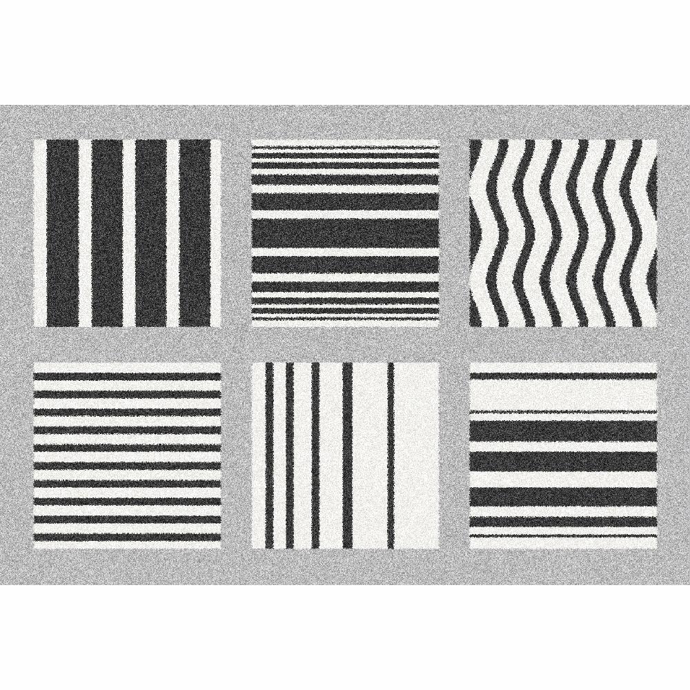Covor Almas, 133x190 cm, poliester, gri/alb/negru poza