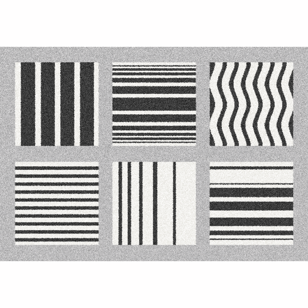 Covor Almas, 67x120 cm, poliester, gri/alb/negru poza